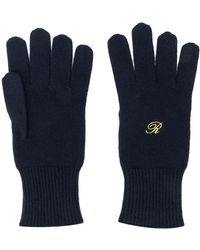 Raf Simons Heroes Embroidery Gloves - Blue
