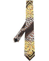 Versace - Barocco Print Tie - Lyst