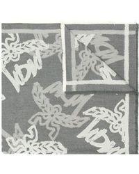 MCM ロゴ スカーフ - グレー
