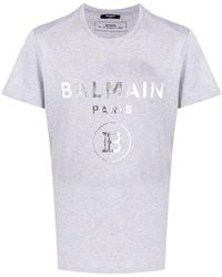 Balmain T-shirt con stampa - Grigio