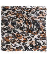 Sonia Rykiel - Leopard Print Scarf - Lyst