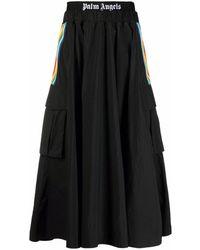 Palm Angels カーゴスカート - ブラック
