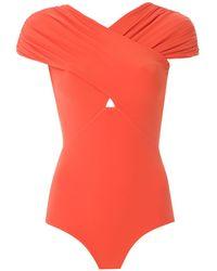 Amir Slama Ruched Paneled Body - Orange