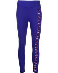 Calvin Klein Legging à logo imprimé - Bleu
