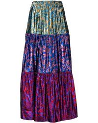 Gucci Metallic Brocade Skirt - Purple
