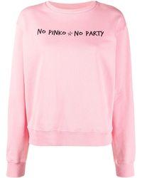 Pinko No No Party スウェットシャツ - ピンク