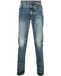 Amiri Gelaagde Slim-fit Jeans - Blauw