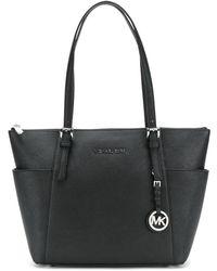 MICHAEL Michael Kors Front Brand Logo Shoulder Bag - Zwart