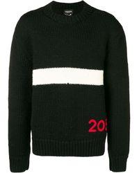 CALVIN KLEIN 205W39NYC バイカラー セーター - ブラック