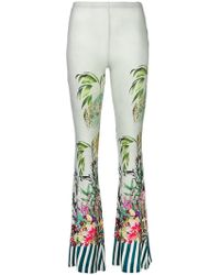 Black Coral - Jungle Print Flared Trousers - Lyst