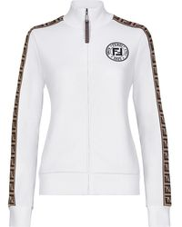 Fendi - Куртка С Логотипом И Узором Ff По Бокам - Lyst