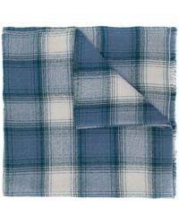 Isabel Marant チェック スカーフ - ブルー