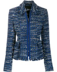 Karl Lagerfeld ツイード ジャケット - ブルー