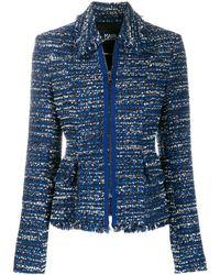Karl Lagerfeld Твидовый Пиджак Букле - Синий