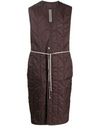 Rick Owens Quilted Sleeveless Coat - Red