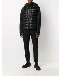 3 MONCLER GRENOBLE フーデッド パデッドジャケット - ブラック