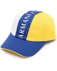 Armani Exchange カラーブロック キャップ - ブルー