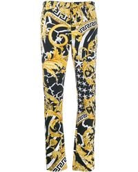 Versace Savage Baroque High-rise Trousers - Multicolour