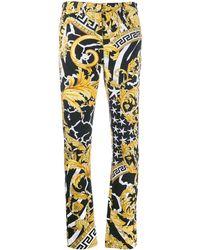 Versace Jeans Skinny In Denim Di Cotone - Multicolore