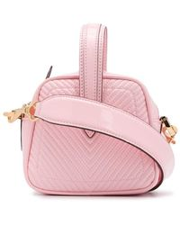 Marco De Vincenzo Chevron Stitch Mini Bag - Pink