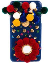Dolce & Gabbana Versierde Iphone 6-hoesje - Blauw