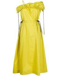 3.1 Phillip Lim Платье С Открытыми Плечами - Желтый