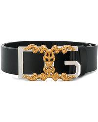 Dolce & Gabbana Riem Met Monogram - Zwart