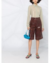 Moschino Прозрачная Рубашка С Фестонами - Многоцветный
