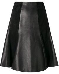 Karl Lagerfeld Юбка А-силуэта Со Складками - Черный