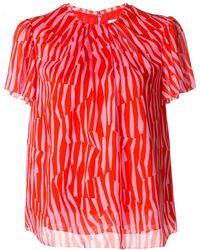 Calvin Klein Блузка С Геометричным Принтом - Красный
