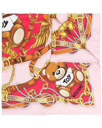 Moschino ロゴ シルクスカーフ - ピンク