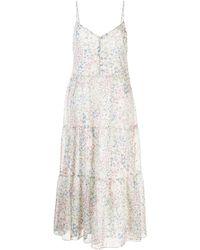 R13 フローラル ドレス - ホワイト