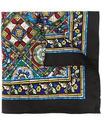 Dolce & Gabbana Pañuelo con estampado de vidriera - Negro