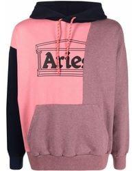 Aries カラーブロック パーカー - ピンク