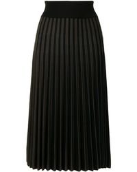 Agnona プリーツ スカート - ブラック