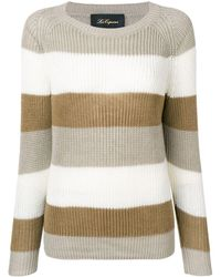 Les Copains Striped Knitted Sweater - Multicolor