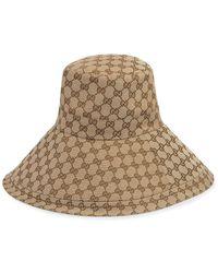 Gucci GG Wide Brim Hat - Natural