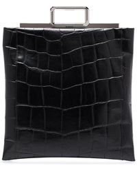 Givenchy クロコパターン ハンドバッグ - ブラック