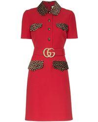 Gucci - ベルテッド ドレス - Lyst