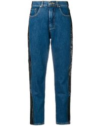 MISBHV Painted Side Tapered Jeans - Blue