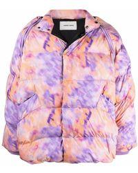 Henrik Vibskov Filo Abstract-print Padded Jacket - Pink