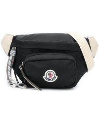 Moncler ロゴパッチ ベルトバッグ - ブラック