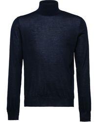 Prada タートルネック カシミア セーター - ブルー