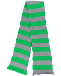 LaDoubleJ ニット スカーフ - グリーン