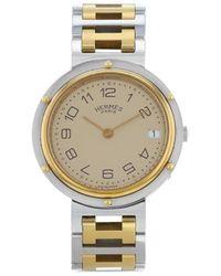 Hermès Наручные Часы Clipper Pre-owned 34 Мм 1990-го Года - Металлик