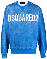 DSquared² Felpa con stampa - Blu