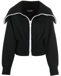 Versace Пальто-кардиган С Принтом - Черный