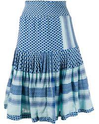 Cecilie Copenhagen - Aftergold Patterned Ruffle Skirt - Lyst