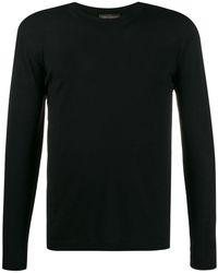 Dell'Oglio カラーブロック セーター - ブラック
