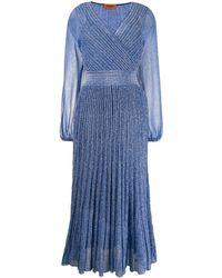 Missoni - Robe mi-longue plissée - Lyst